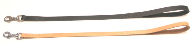 image:lederen lijn gestikt bij handvat en musketon