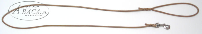 image:rondlederen lijn, ingevlochten bij handvat en musketon