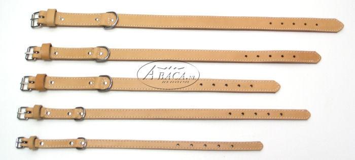 image:halsband leder dubbel, gestikt