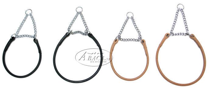 image:rondlederen halsband met triangelketting