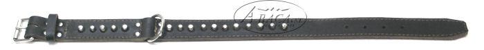 image:halsband dubbelgestikt, met chroombeslag
