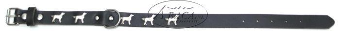 image:halsband met Retriever, verzilverd, staand