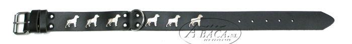 image:halsband met Rottweiler, verzilverd, staand