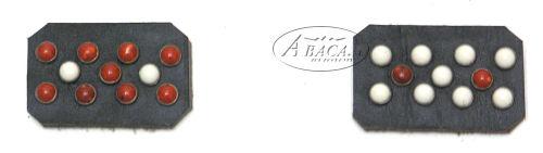 image:donker- bruin lederen halsband Abaca colorfull nr.75